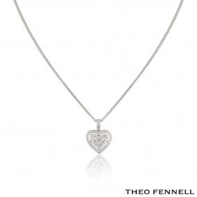 Theo Fennell White Gold Diamond Heart Pendant